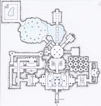 One of 4 levels for an Alyssa Faden masterwork entitled Hellhound Caves