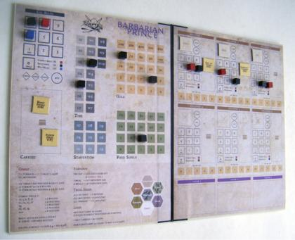 Barbarian Prince tracking sheets, designed by Todd Sanders. Click for bigger version.