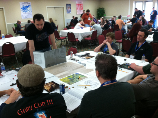 Alexander Macris schools a group of advanced players in the Adventurer Conqueror King System