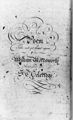 Title page of The Prelude
