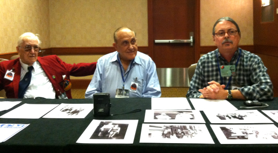 The 1939 World Science Fiction Convention panel, with Dave Kyle, Erle Korshak, and John L. Coker III