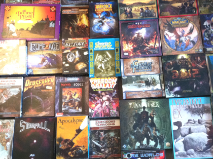 Some of the loot I brought home from the Spring 2013 Games Plus auction