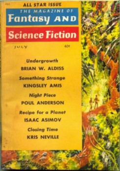 Magazine of Fantasy & Science Fiction July 1961
