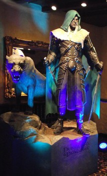 Drizzt Do'Urden, wielding his codpiece of holding, awaits the birthday festivities at Gen Con 2013