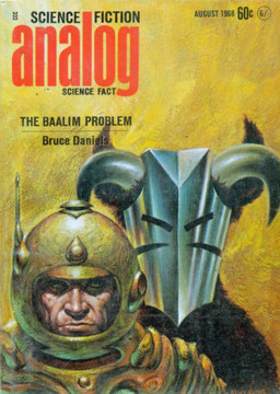 The August 1968 issue of Analog Science Fiction, with Sword & Sorcery creeping up on Science Fiction