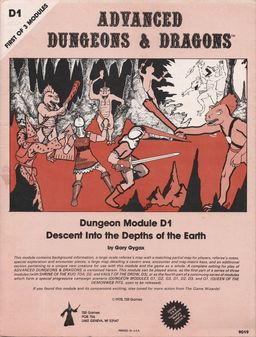 Descent into the Depths of the Earth D1 Gary Gygax-small