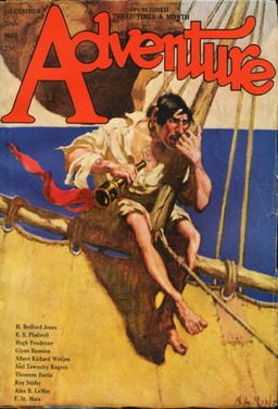 "Adventure December 1922, containing ""Pirates' Gold"" by H. Bedford Jones"