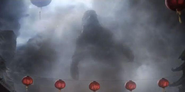 Godzilla and lanterns
