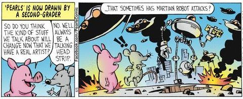 Bill Watterson draws Pearls Before Swine