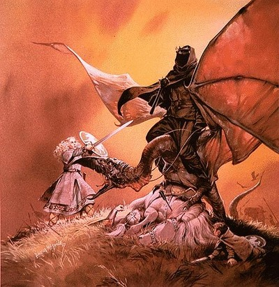 Eowyn and the Witch King, by Angus McBride