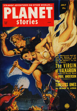 "Planet Stories July 1951, containing Mack Reynolds' ""Mercy Flight."""