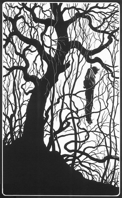 Stephen Fabian Man in a tree-small