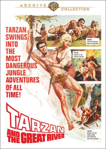 Tarzan and the Great River DVD warner archive cover