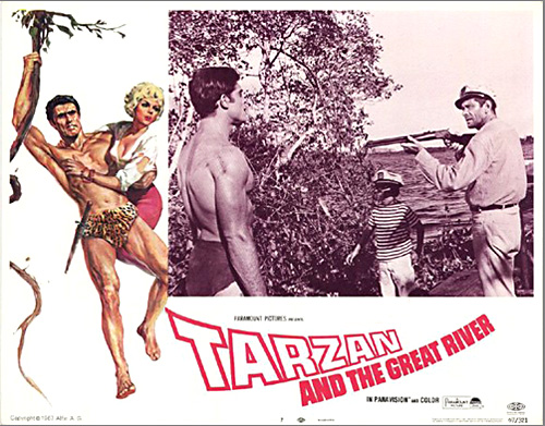 Tarzan and the Great River lobby card