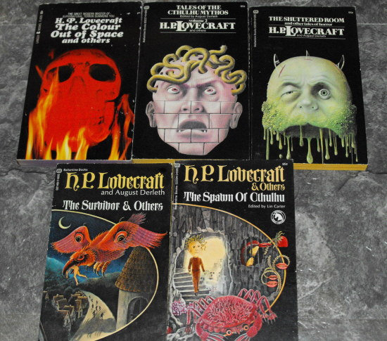 Lovecraft Ballantine Paperback collection-small