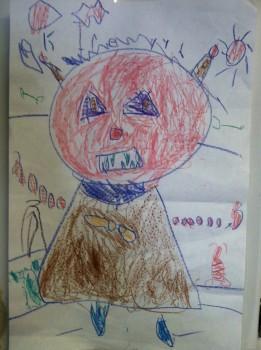 "Irelyn Ozment's depiction of a ""bad robot,"" November 2014"
