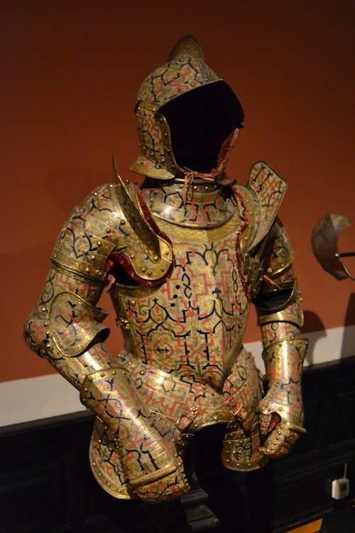 This highly decorated harness was made in Nuremberg around 1555.