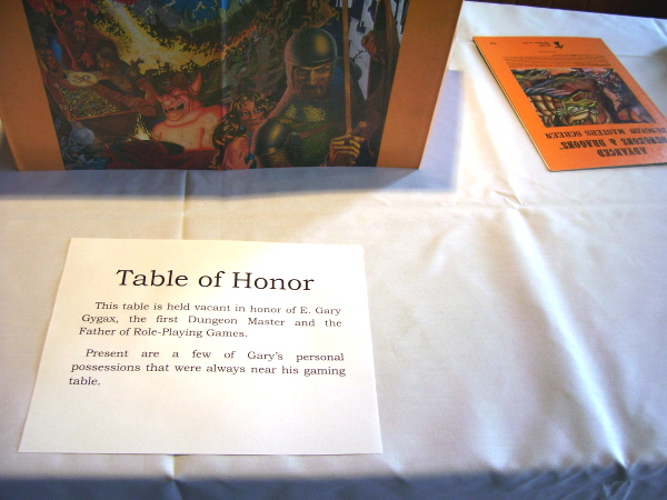 Gary's Table of Honor