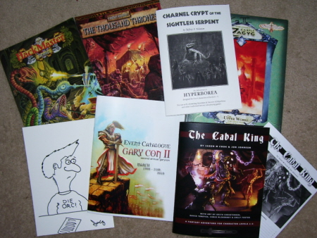 A few of the treasures I brought home from Garycon II