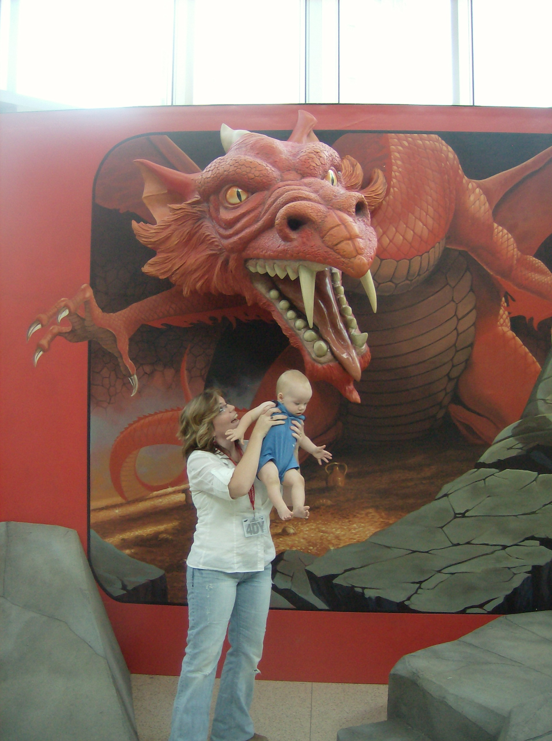 Did I say I was an unapologetic geek? My wife, Amber, offered our son to a dragon at GenCon!