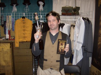 Author Nick Valentino demonstrates his steampunkiness, and his new novel, Thomas Riley.