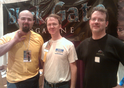 Three brave sellers: Jason Waltz, Howard Andrew Jones, John O'Neill