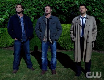 The angel Castiel (right) returns to the fold, joining Sam (left) and Dean (right) in their battle to stop evil.