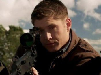 Dean gets in touch with his inner sniper.