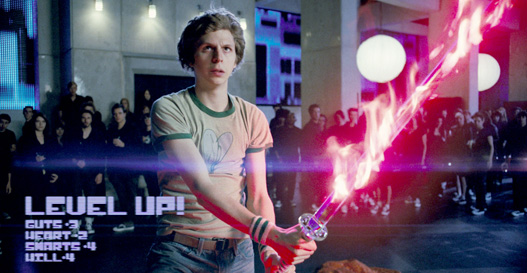 Scott Pilgrim levels up when he gains the Power of Love.