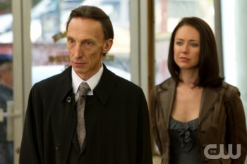 Death (left) and grim reaper Tessa (right) offer Dean a deal to get Sam's soul back.