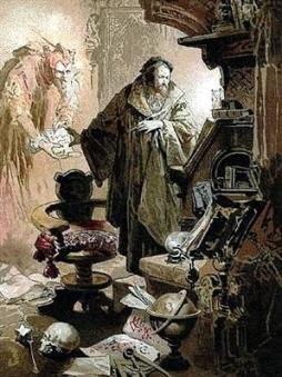 Faustus in his Study