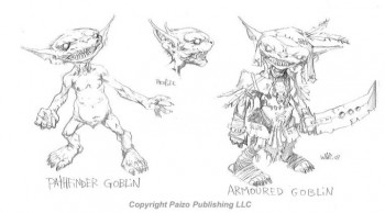Wayne shows us the concepts for Paizo goblins, the foundation of a RPG system.