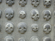 The Wall of Toxic Words in Fantasy (As Represented By Skulls).