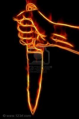 fiery-hand