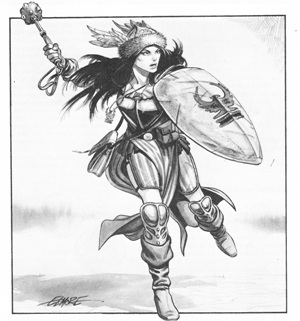 Beautiful, tough, and wise, the perfect Basic cleric