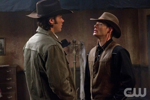 Sam (left) and Dean (right) go to the Old West.