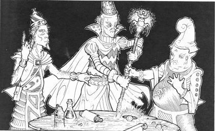 It's never wise to have three magic-users in a party...
