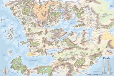 The Forgotten Realms, a wonderful map for an incredible world