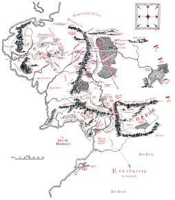 Christopher Tolkien's Map of Middle-earth
