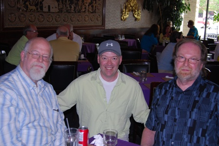 Jeff Easley, me, and Clyde Caldwell... can you guess who in this picture has no artistic talent?