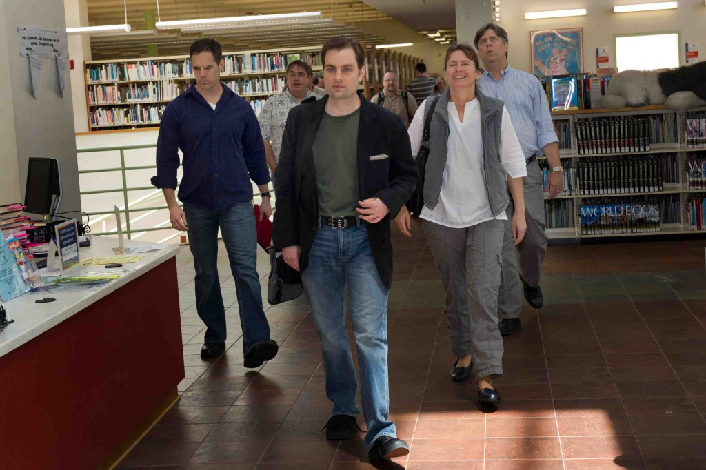 I lead an incredibly aggressive group into the Hollywood Library