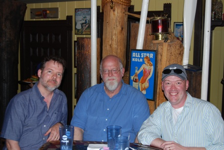 John O'Neill, Jeff Easley, and me before the waitress kicked us out.