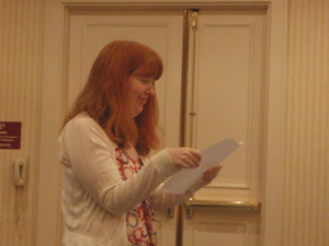 Gwynne Garfinkle at the Rhysling Award Poetry Slan