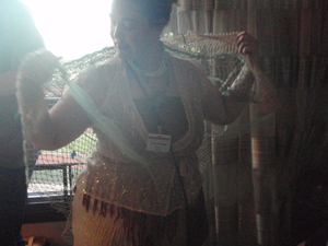 And this is me, trying to figure out how to WEAR my shark net!