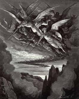 A Gustave Dore illustration from Milton's Paradise Lost