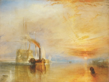 J.M.W. Turner: The Fighting Téméraire tugged to her last Berth to be broken up