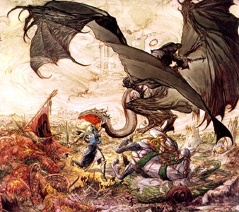 Kaluta's detail is unreal, but you'd need a larger version of this to do it justice.