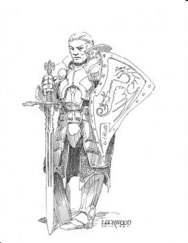 Gorwin Fleetwood: AD&D 1E Cavalier, Level 14, Art by Todd Lockwood