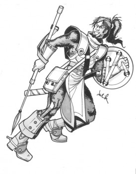 Thalos Fleetwood: AD&D Unearthed Arcana Cavalier, Level 8, Art by David Deitrick