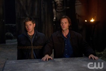 Sam defends his brother, Dean, when put on trial for his life by the Egyptian god Osiris.